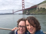 At the Golden Gate Bridge.
