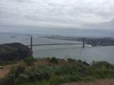 The Golden Gate Bridge, from atop Hawk Hill.