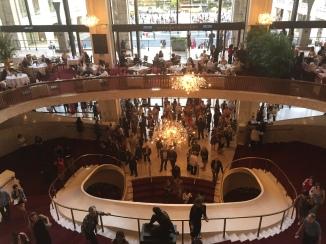 The interior of the Metropolitan Opera House.