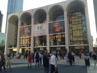 The exterior of the Metropolitan Opera House.