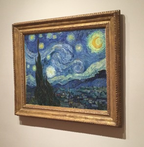 "Vincent van Gogh's ""The Starry Night"" is undoubtedly one of the most recognizable paintings there is. How exciting to see it in real life!"