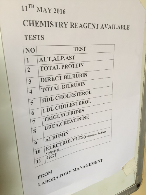 Available blood tests