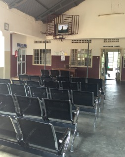 The waiting area of the OPD (outpatient department).