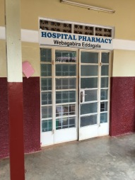 Entrance to the hospital pharmacy.