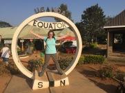 Straddling the equator