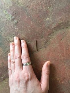 Stick << my index finger